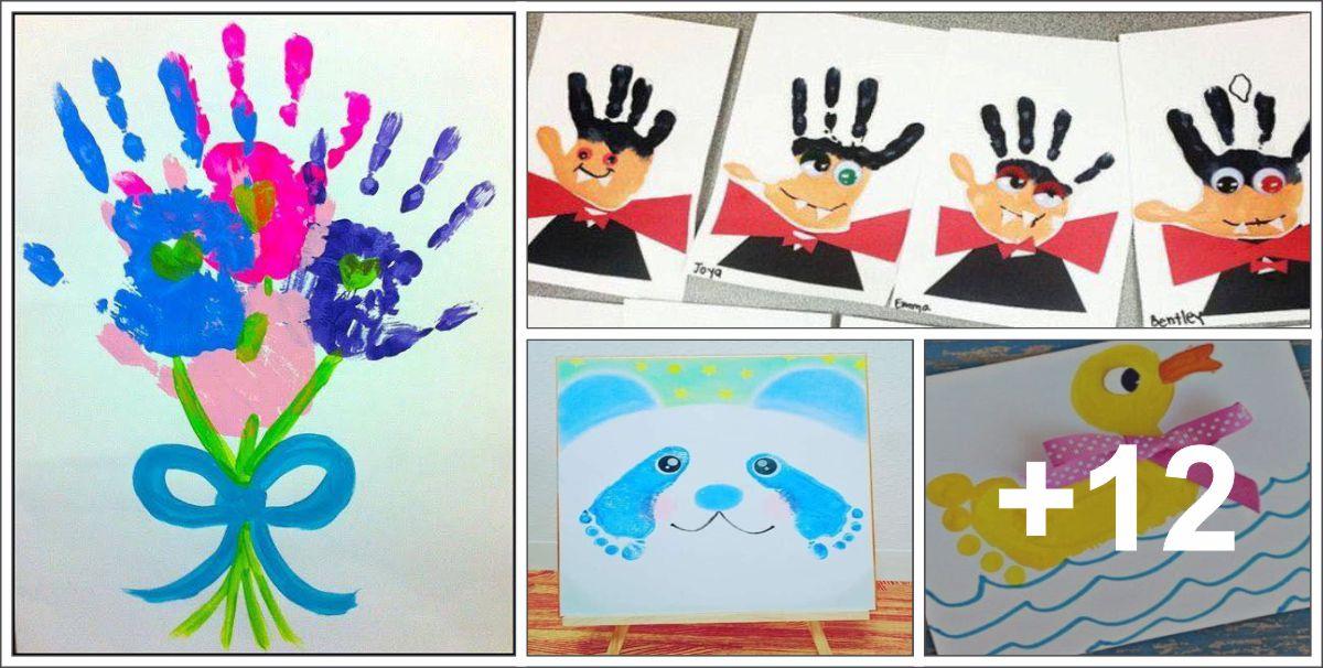 16 Ideias artísticas usando mãos e pés