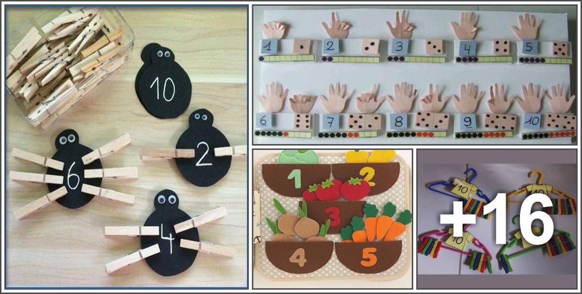20 Ideias de Atividades matemáticas para crianças