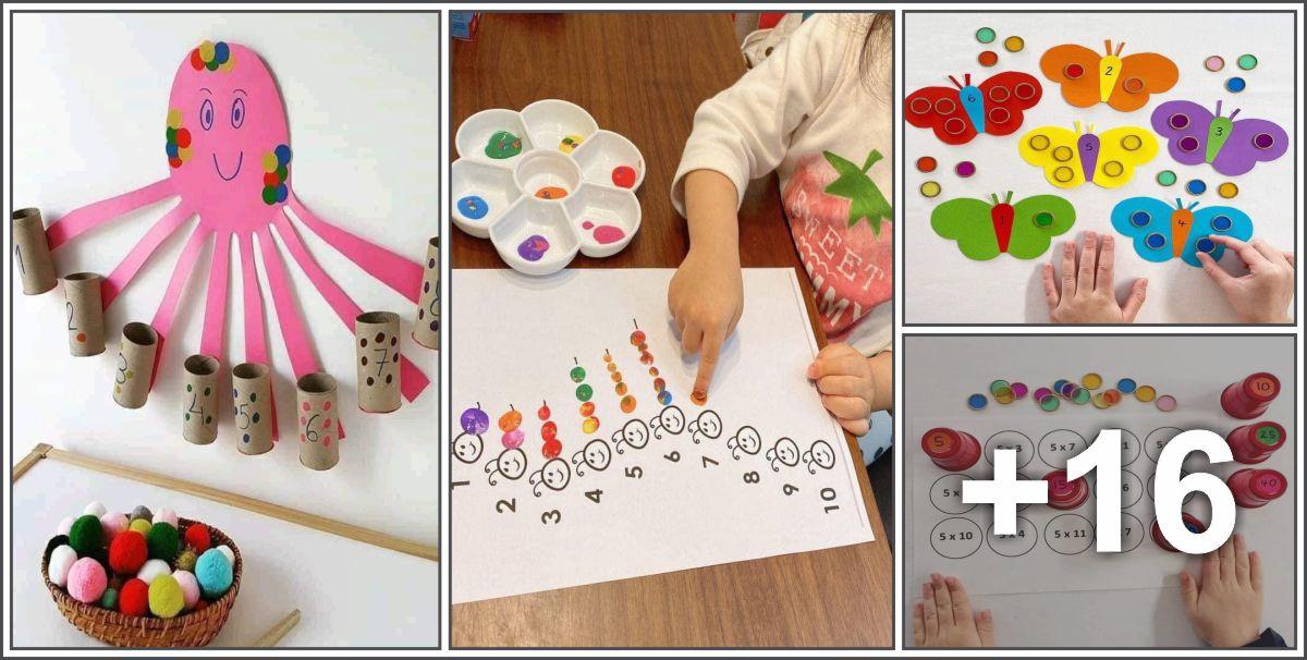 20 Atividades lúdicas de matemática para crianças pequenas