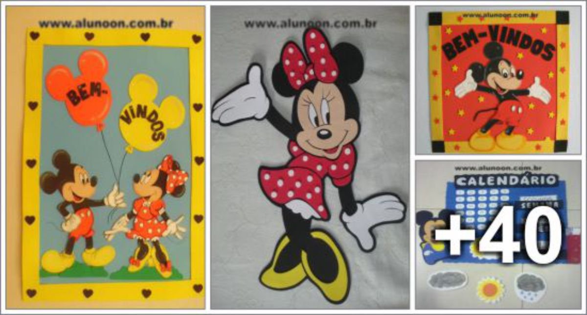 44 ideias de Decoração do Mickey, Minnie e sua turma