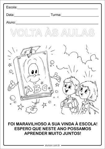 Mensagens De Volta As Aulas Para Colorir Educacao Infantil