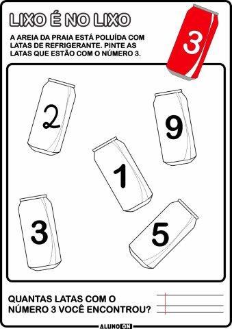 Atividades De Matematica Com Numeros De 1 A 10 Educacao Infantil
