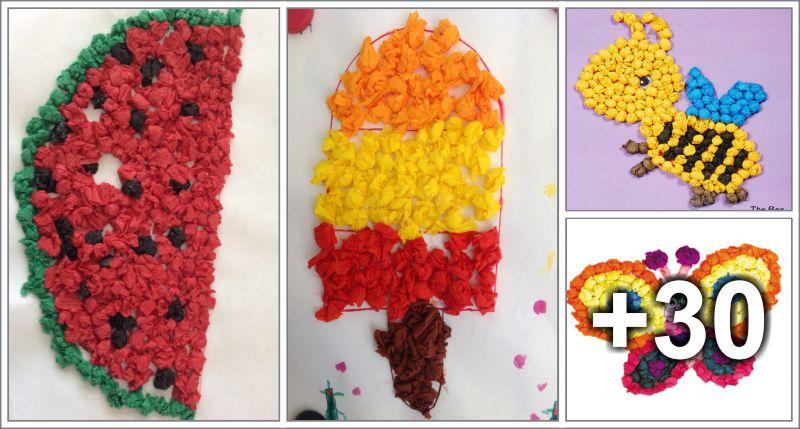 Tissue Paper Crafts Ideas Preschool Aluno On