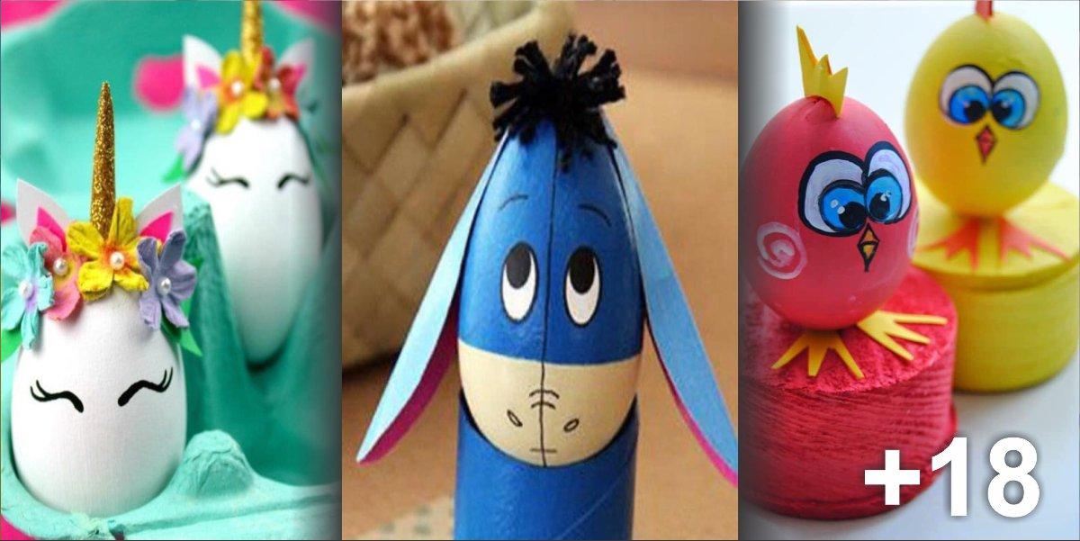 21 Ideias artísticas usando casca de ovos