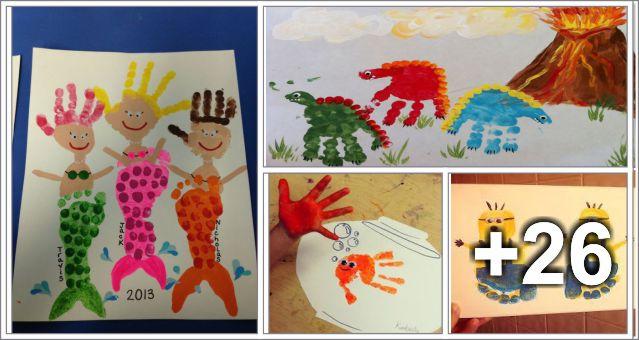 30 Manualidades de pinturas de mãos e pés
