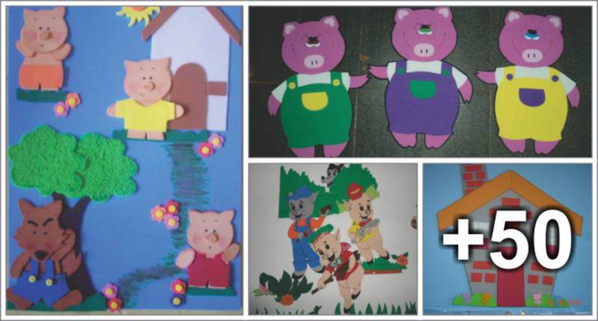 54 ideias de decoração dos Três porquinhos