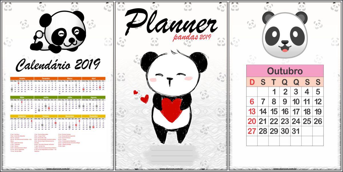 Planner Pandas 2019