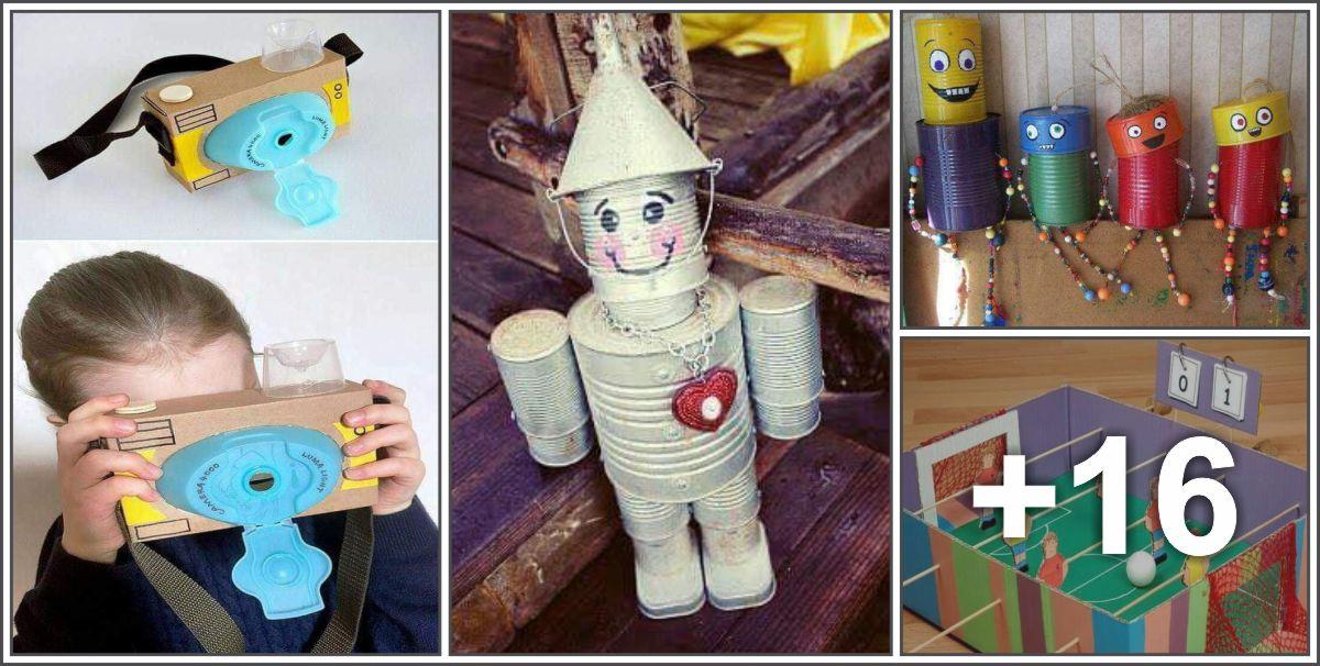 20 brinquedos feitos com recicláveis