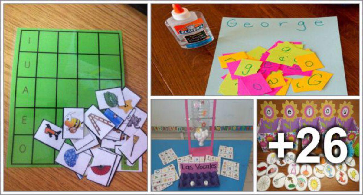 30 ideias para rever as vogais e letras do alfabeto
