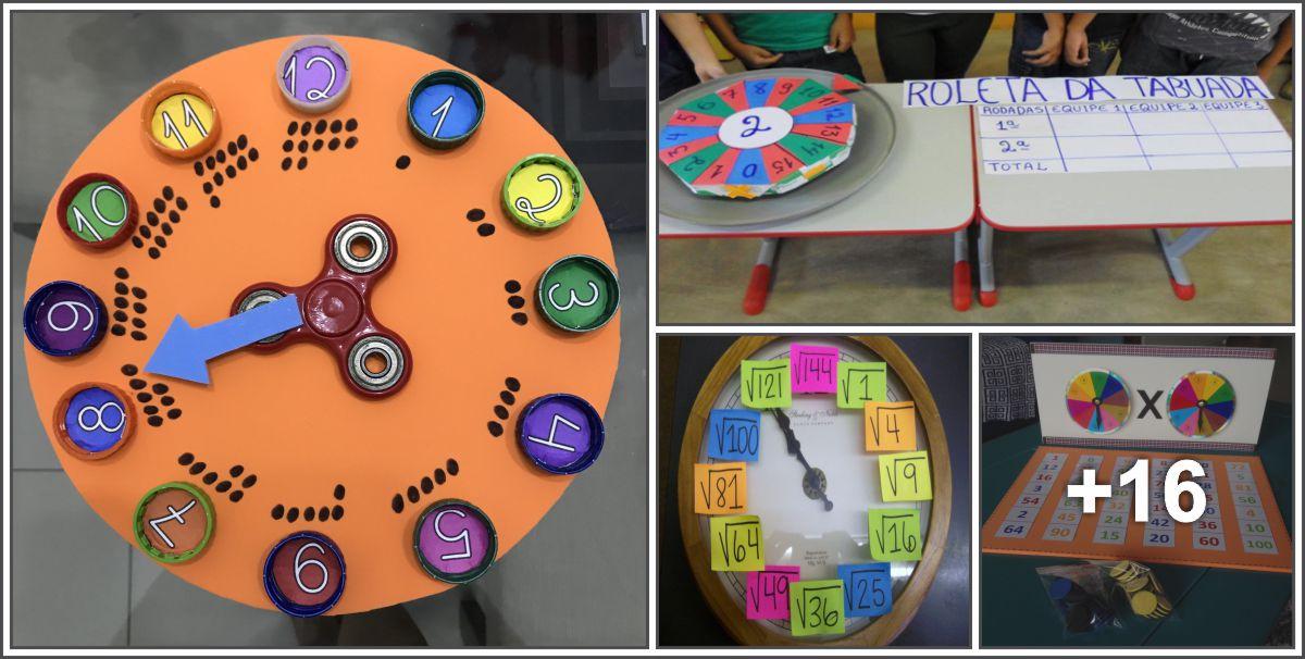 20 Atividades lúdicas de matemática usando roleta numérica