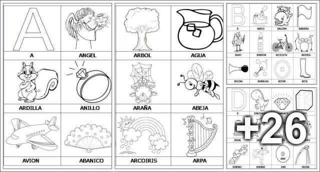 30 Actividades para imprimir del abecedario - Educaciín Preescolar ...