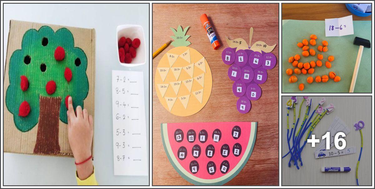 20 Atividades Lúdicas para ensinar subtração para crianças.
