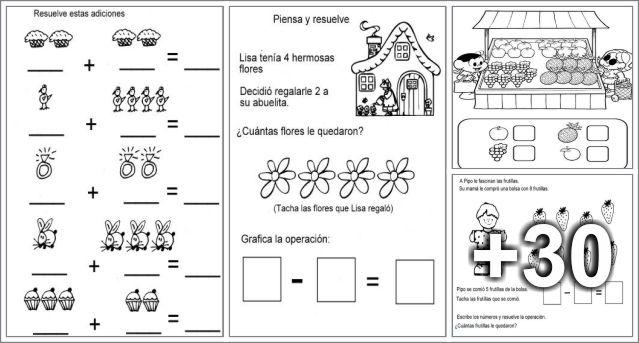 34 Ejercicios de Adición y Sustracción para imprimir - Educaciín ...