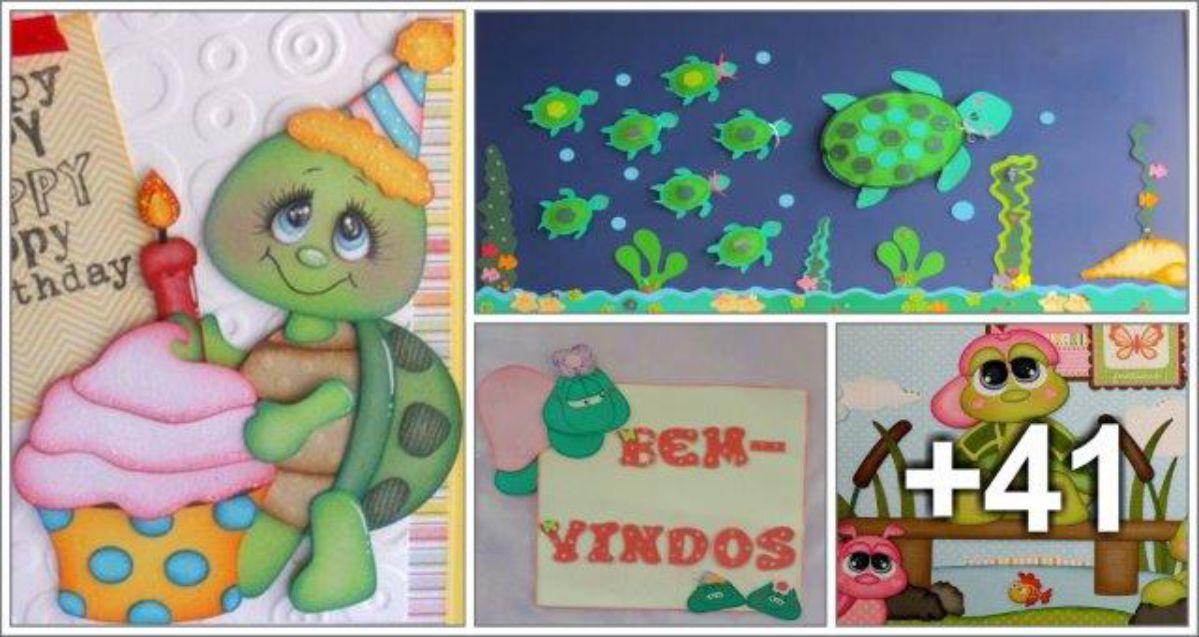 45 ideias de decoração com tartarugas
