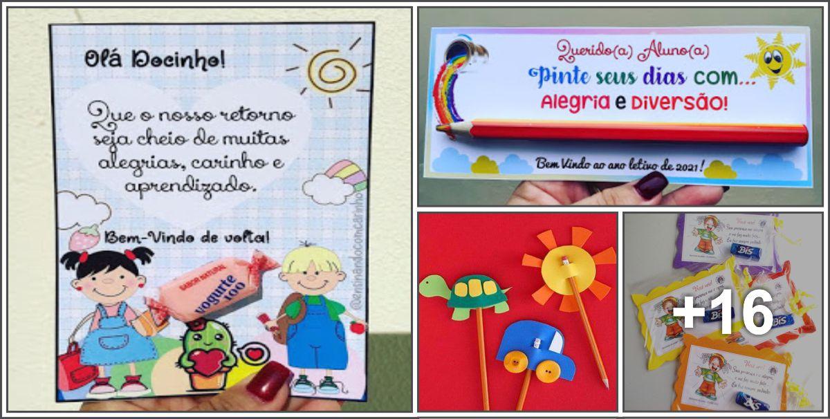20 Ideias de Lembrancinhas para Volta às Aulas