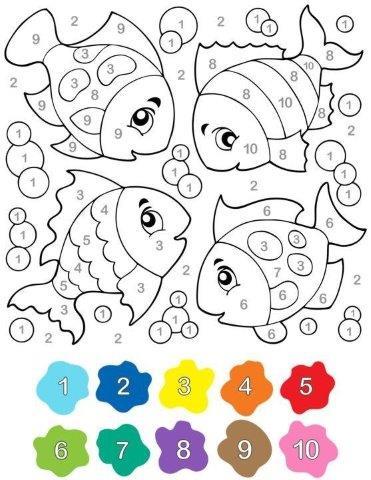 27 Dibujos Para Colorear Por Números Alumno On