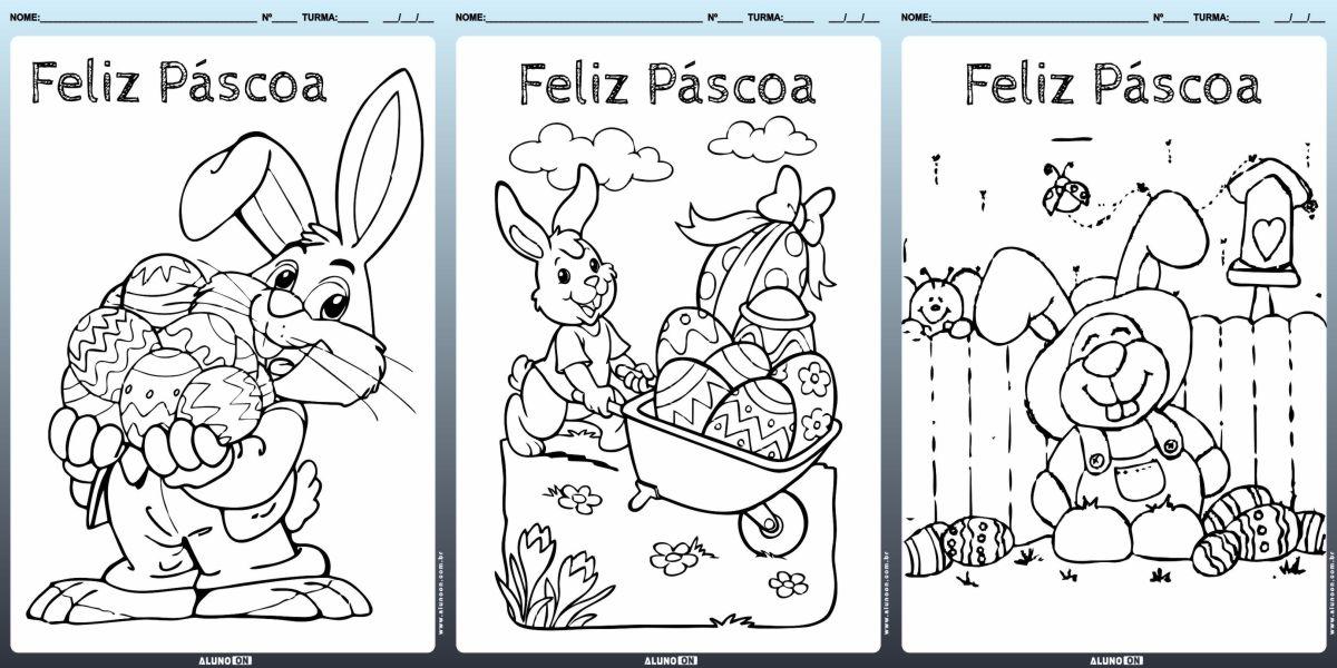 24 Desenhos do Coelhinho da Páscoa para colorir