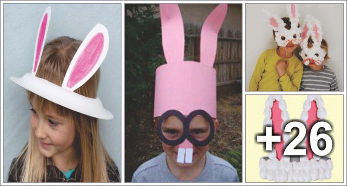 30 ideias de Máscaras, Orelhas e Viseiras para a Páscoa