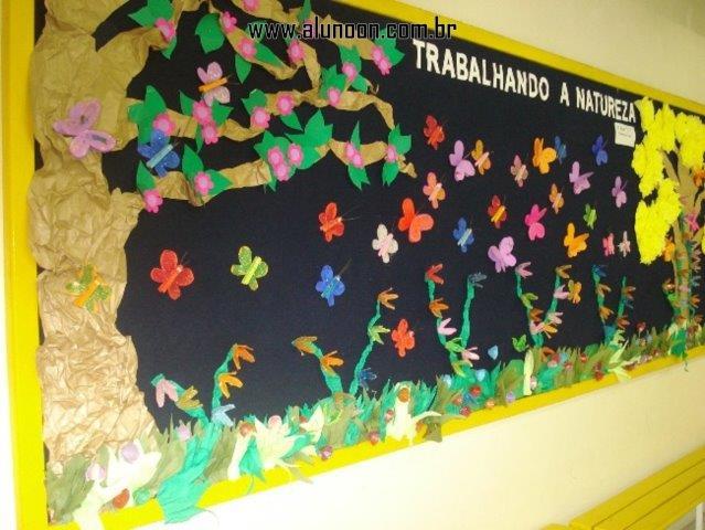 40 ideias de murais para primavera aluno on for Bordas para mural