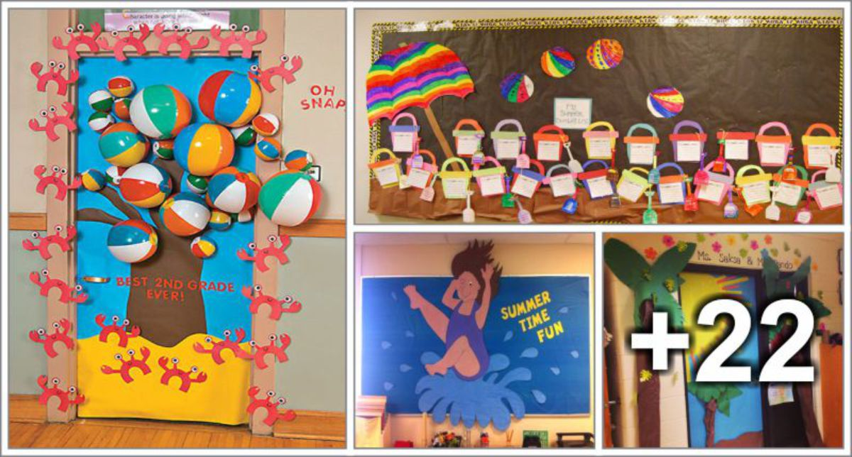 26 Decorações de verão para sala de aula
